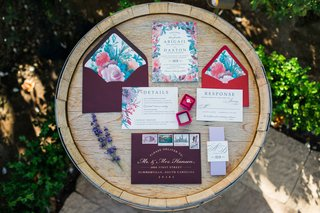 watercolor-red-blue-blue-pink-wedding-invitations-paper-products-pattern-design-red-ring-box