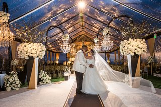 wedding-ceremony-tent-original-runner-company-aisle-runner-clear-tent-flower-chandelier-twilight
