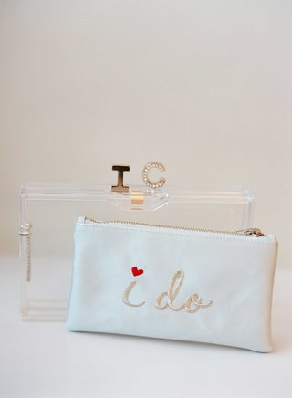 wedding-day-accessories-white-i-do-clutch-embroidery-with-initial-closure-lucite-acrylic-clutch