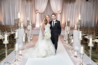 bride-in-vera-wang-groom-in-hugo-boss-ceremony-space-at-four-seasons-chicago
