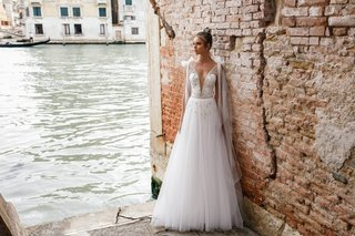 chloe-by-julie-vino-2018-two-piece-dress-embroidered-lace-body-suit-sparkling-tulle-skirt-long-train