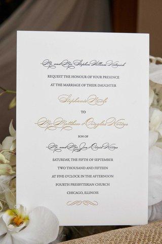 white-wedding-invitation-with-black-script-and-gold-script-sophisticated-classic-invite