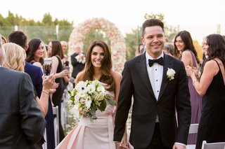 bride-in-le-spose-di-gio-blush-gown-groom-in-black-suit-london-west-hollywood-rooftop-ceremony