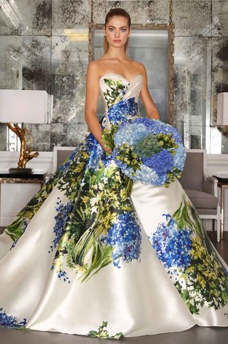 romona-keveza-strapless-ball-gown-in-blue-and-green-flower-print