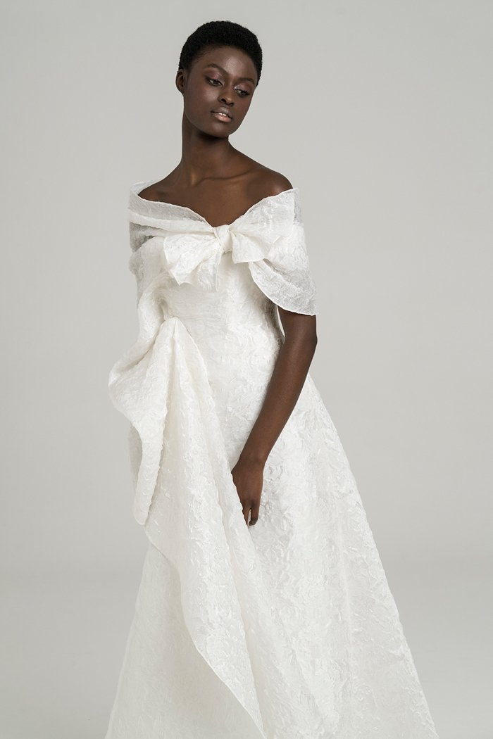 Bridal Gown with Bow by Peter Langner