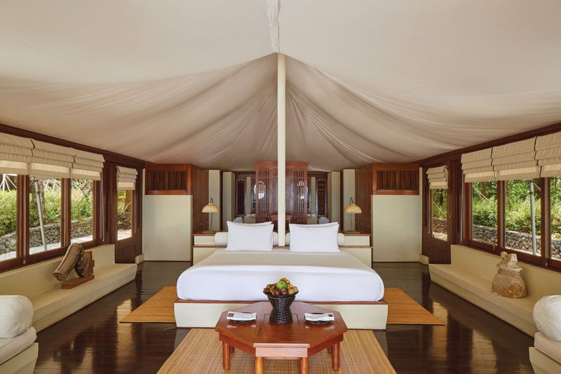 Interior of Tent at Amanwana