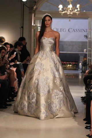 oleg-cassini-spring-2016-gold-and-silver-ball-gown-wedding-dress