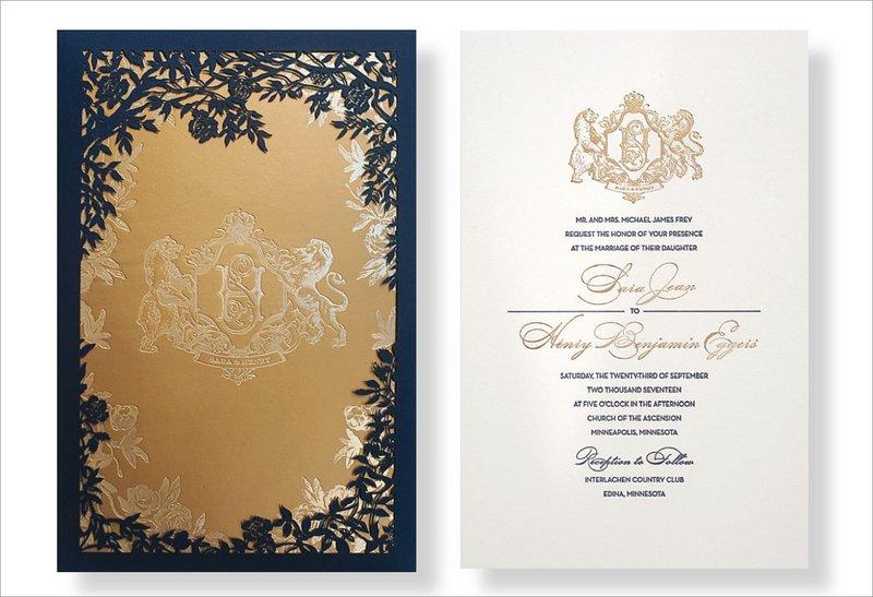 Letterpress Invitation by Atelier Isabey