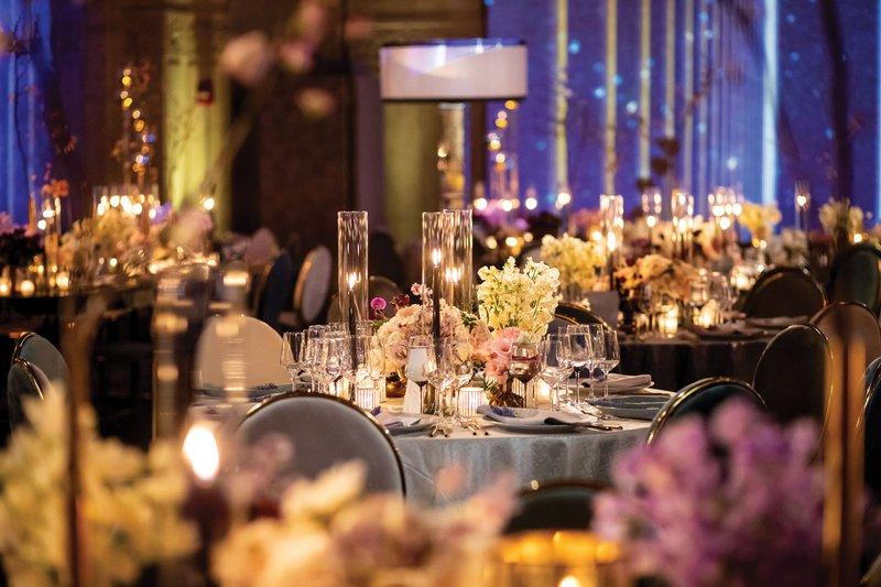 Velvet Linen at Elegant Wedding Reception