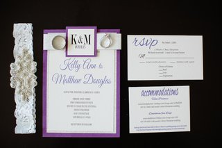 wedding-invitation-suite-with-purple-and-silver-border-invitation-couples-initials-rsvp-card
