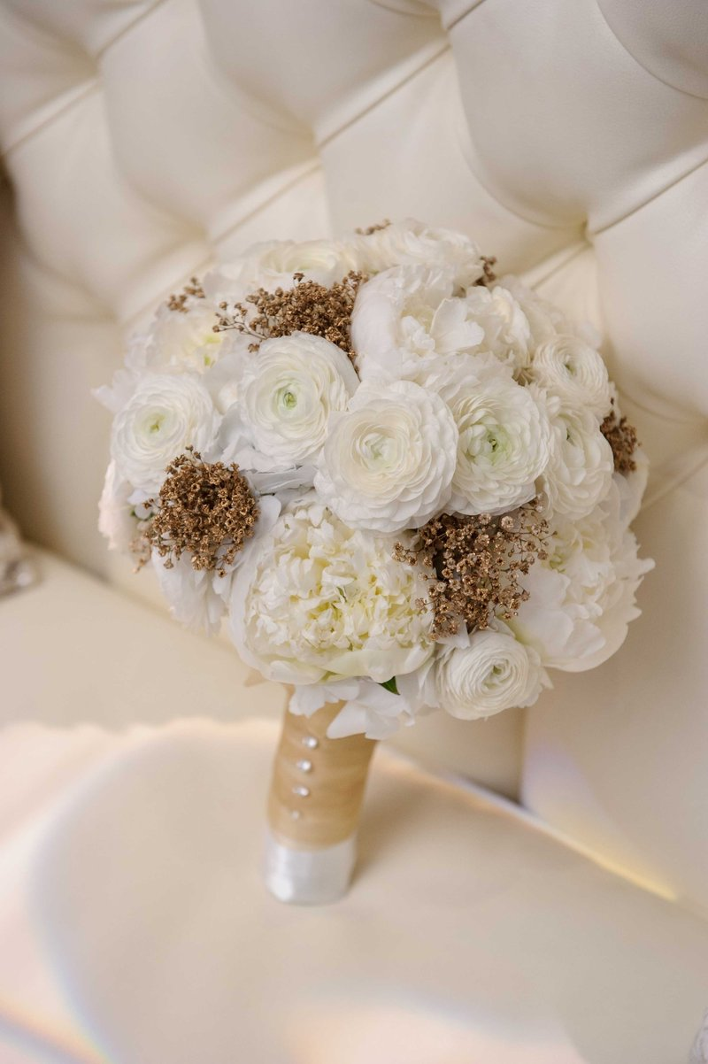 Bridal Bouquet with Gold Touches