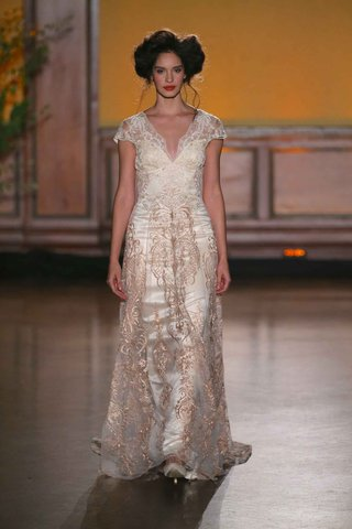 la-belle-rose-gold-short-sleeve-wedding-dress-from-the-gilded-age-collection-by-claire-pettibone