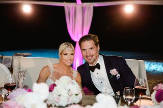 wedding-reception-for-barbie-blank-and-sheldon-souray-pink-lighting-headpiece-bow-tie-boutonniere-oc