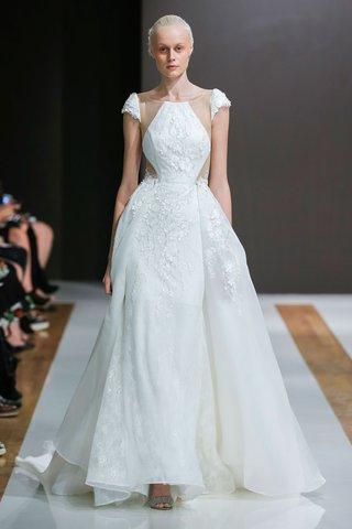 mark-zunino-spring-2018-wedding-dress-cap-sleeve-bridal-gown-overskirt-sheer-bodice-details-diamond
