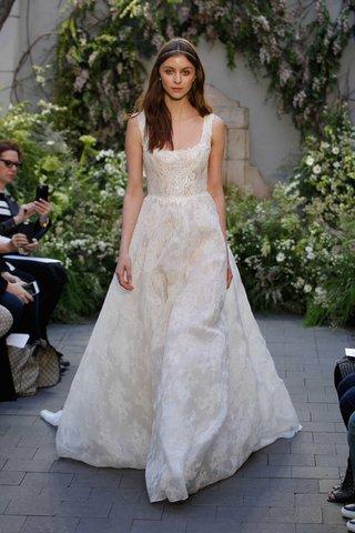 monique-lhuillier-spring-2017-bella-wedding-dress-scoop-neck-ball-gown-floral-print-circle-skirt