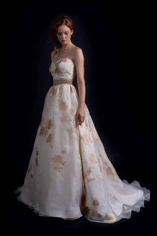 modern-trousseau-fall-2016-rose-gold-applique-wedding-dress