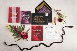 vintage-themed-purple-red-invitations-wedding-styled-shoot-classic-1920s-1930s-1940s-new-york