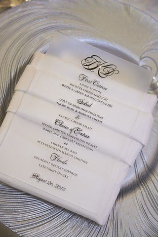 lucite-card-with-black-lettering-on-white-napkin