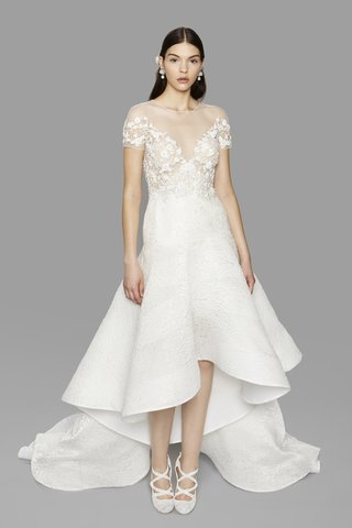 marchesa-fall-2017-look-1-ivory-off-the-shoulder-drop-waist-high-low-dress-organza-cloque-floral
