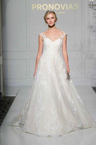 pronovias-2016-lace-princess-wedding-dress-with-illusion-straps