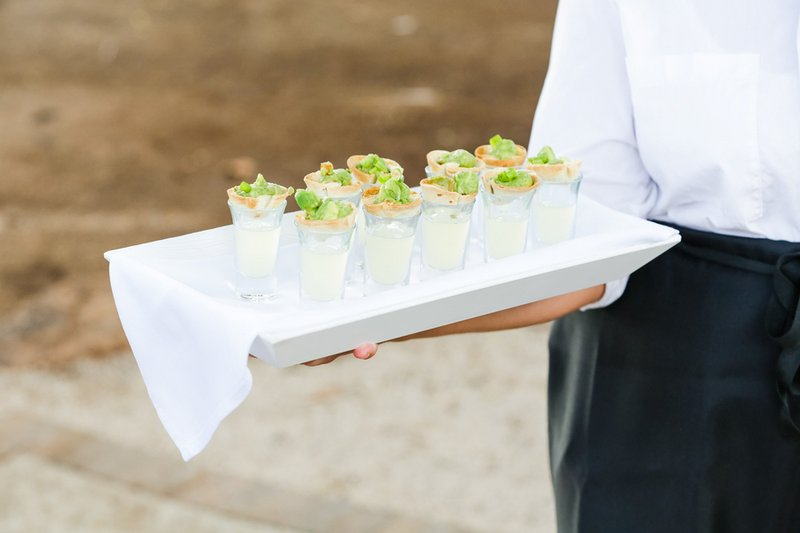 Margarita Shooters with Chips and Guacamole
