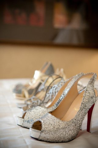 four-pairs-of-sparkling-glitter-wedding-shoes