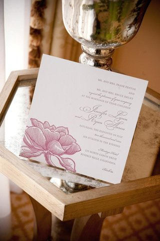 wedding-invitation-square-card-with-pink-flower-design