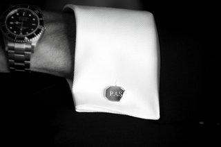 black-and-white-photo-of-custom-monogram-cufflink
