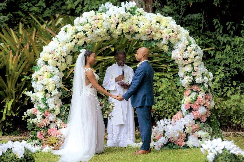 Bride & Groom at Barbados Wedding
