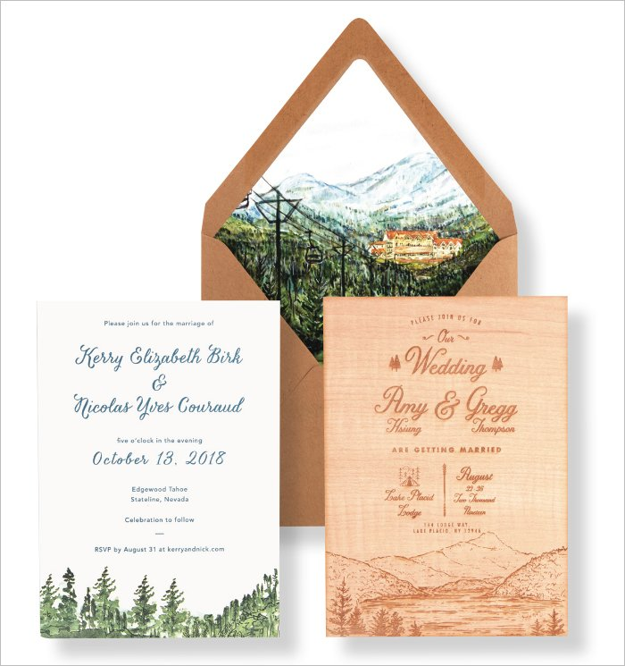 Wild Eyes Paper Co. Nature-Inspired Invitation