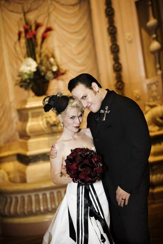 brandon-saller-drummer-of-atreyu-with-bride-in-an-alvina-valenta-dress-and-black-wedge-veil