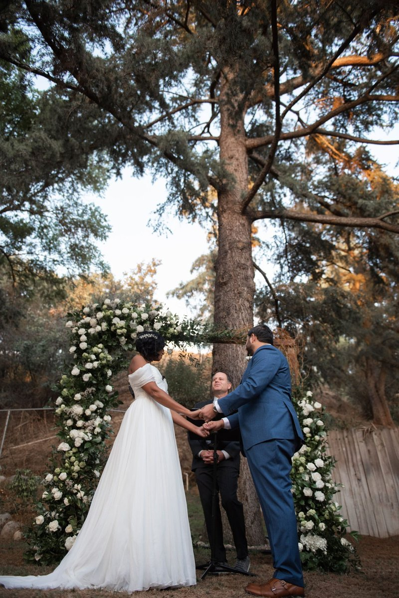 Intimate Wedding Vow Exchange