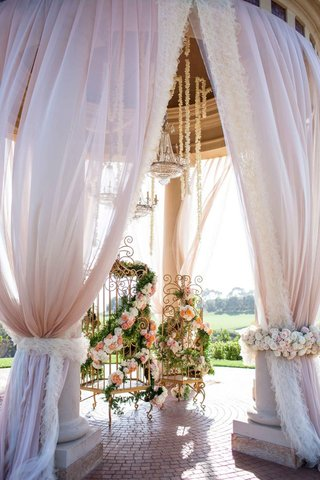 billowing-fabric-from-rotunda-and-gold-birdcages