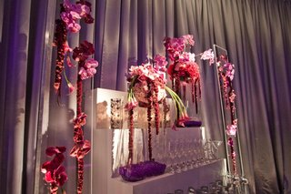white-staircase-with-purple-flowers-and-champagne-glasses