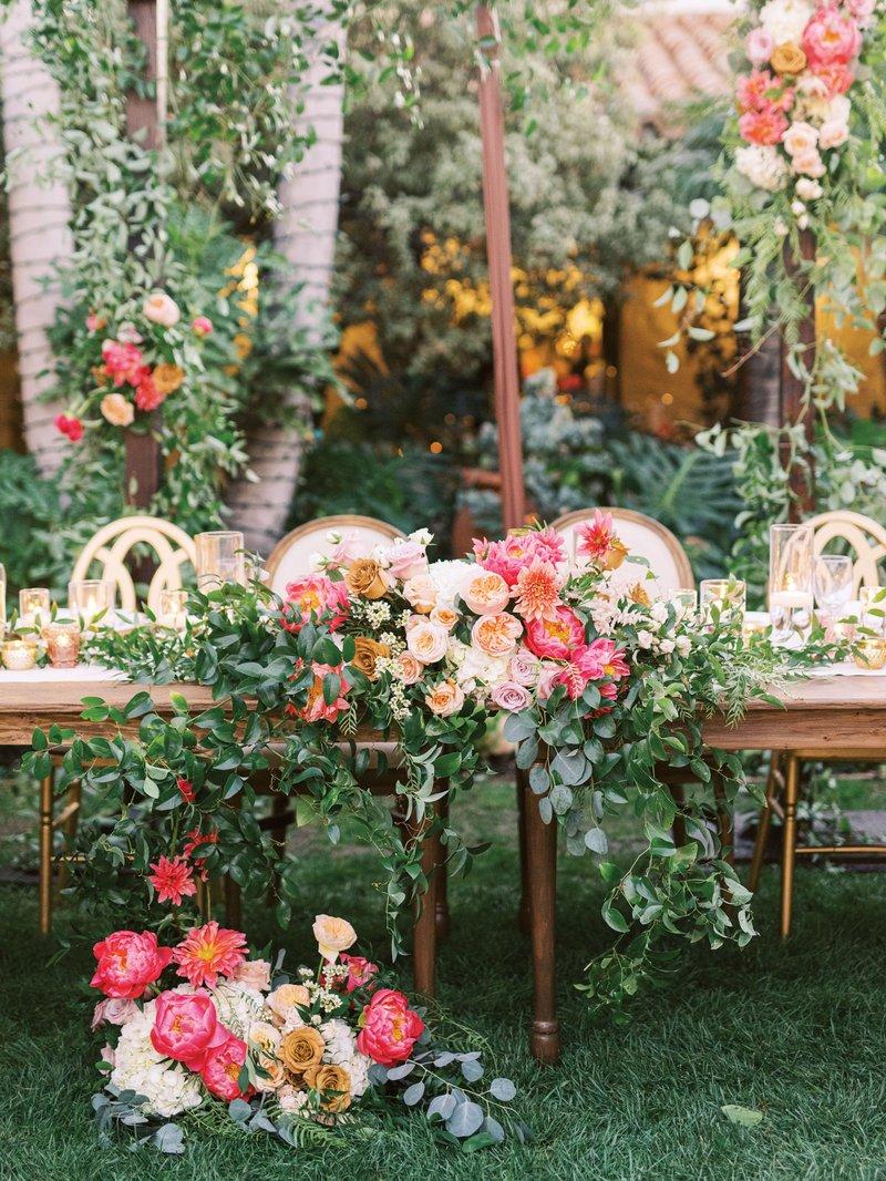 Bride & Groom's Seats at Head Table