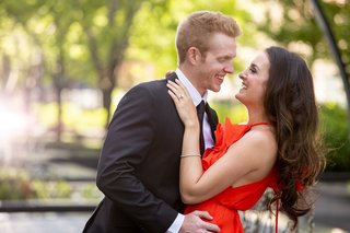 wedding engagement shoot luxury formal chicago