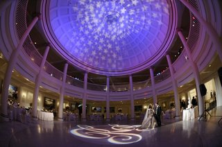 star-design-on-ceiling-and-purple-lighting-reception