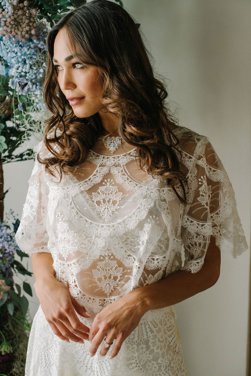 """Helena"" Ivory Tee by Claire Pettibone"