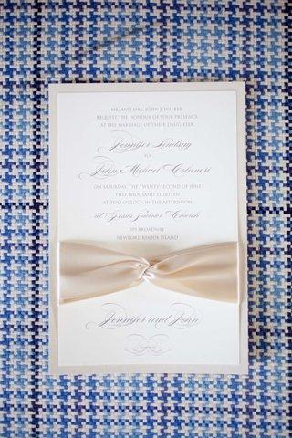 wedding-invitation-with-ivory-ribbon-for-john-colaneris-wedding