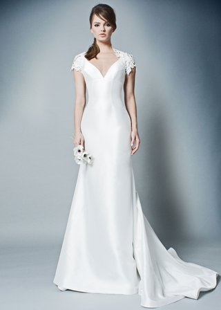 romona-by-romona-keveza-fall-2018-v-neck-silk-gown-wedding-dress-with-cap-sleeve-lace-shrug
