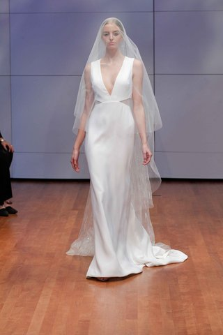 deep-v-neck-wedding-dress-and-veil-by-rivini-fall-winter-2016-collection