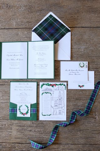 green-red-blue-plaid-wedding-invitation-suite-with-custom-map