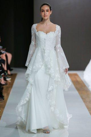 mark-zunino-spring-2018-wedding-dress-long-bell-sleeve-ruffle-overskirt-buttons-bodice