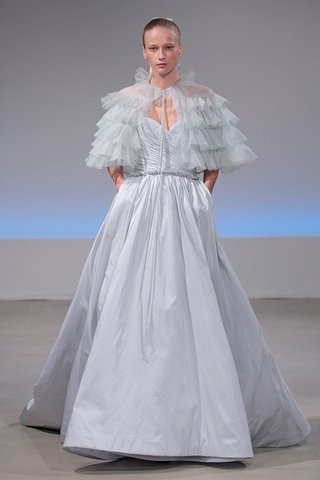 isabelle-armstrong-mathilda-fall-2017-powder-blue-silk-taffeta-ball-gown-ruffled-cape-pockets