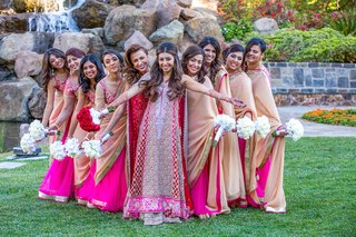 indian-bride-with-girlfriends-in-vibrant-sarees