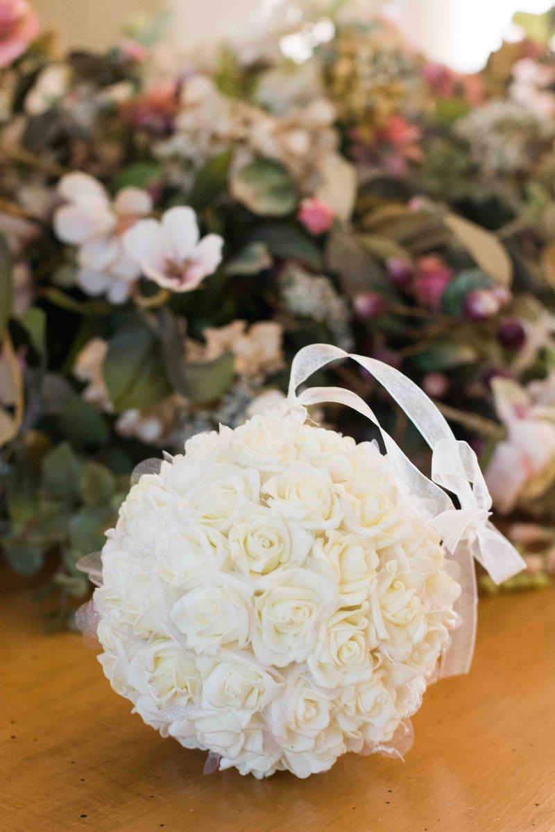 White Rose Pomander