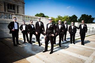 groom-in-vera-wang-groomsmen-in-mens-wearhouse-pose-wearing-sunglasses