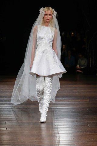 naeem-khan-bridal-fall-2017-emilia-wedding-dress-sleeveless-short-skater-silk-lace-bodice