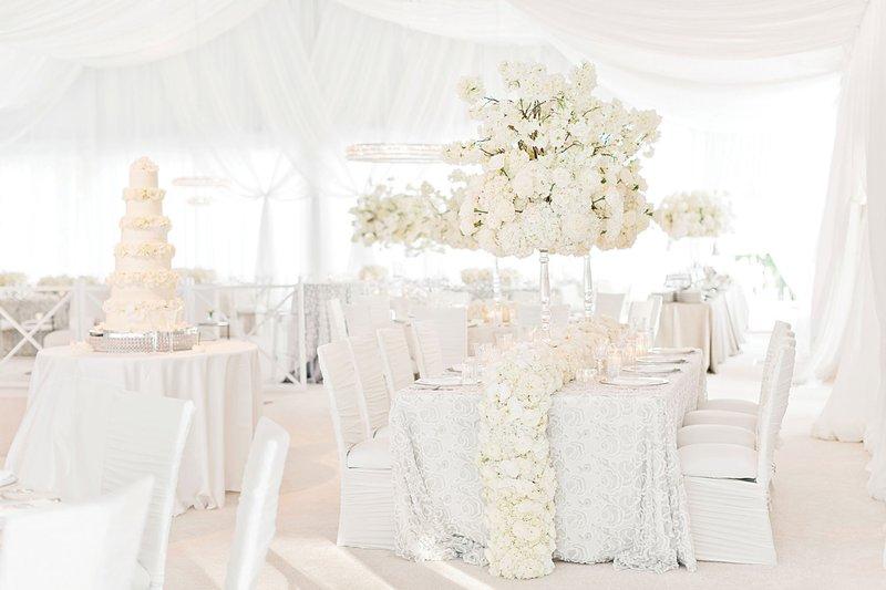 All-White Glamorous Wedding Reception
