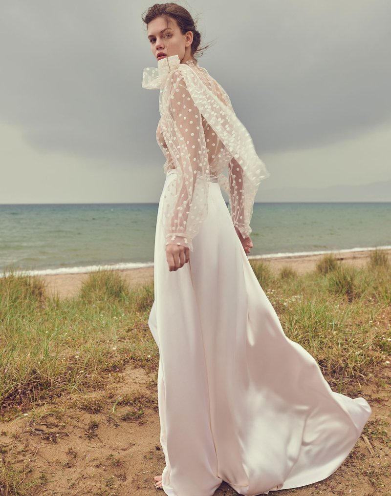 Bridal Gown with Dots by Costarellos